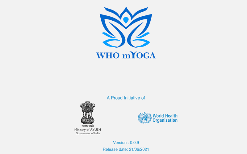 WHO and Ministry of Ayush jointly launch MYoga app on 7th international yoga Day